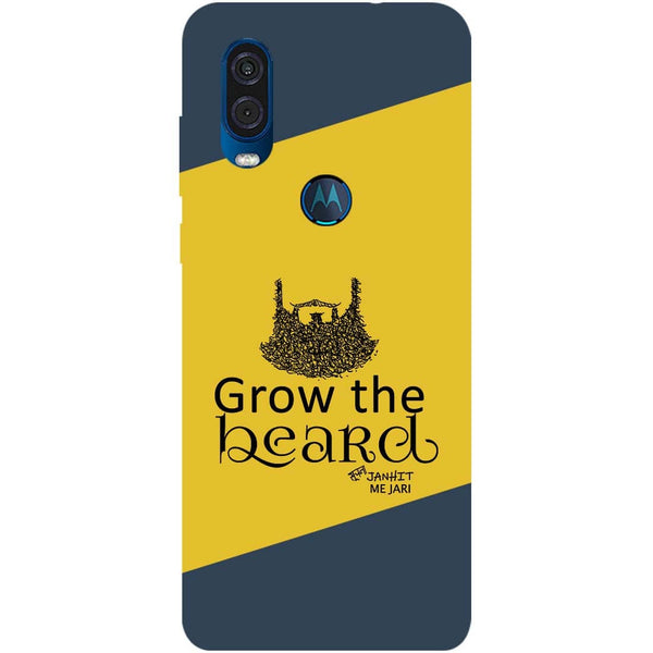 Grow Beard Motorola One Vision Back Cover