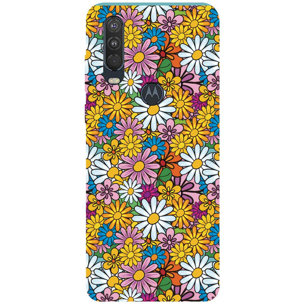 Colourful Flowers Motorola One Action Back Cover