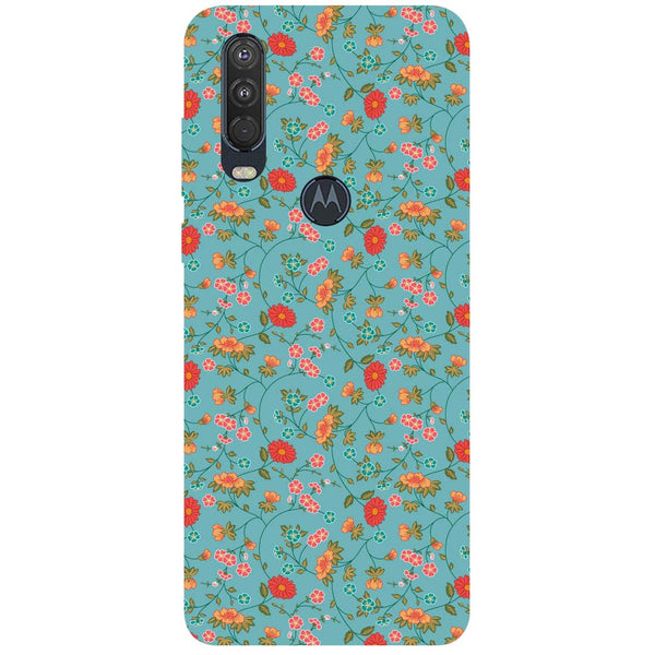 Floral Motorola One Action Back Cover