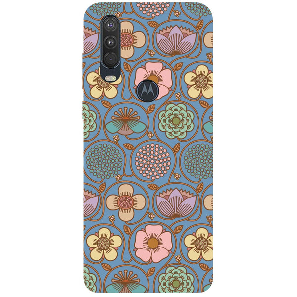 Flowers Motorola One Action Back Cover