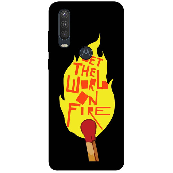 Fire Motorola One Action Back Cover
