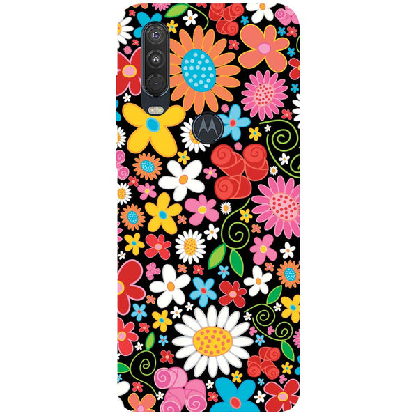 Bloom Motorola One Action Back Cover