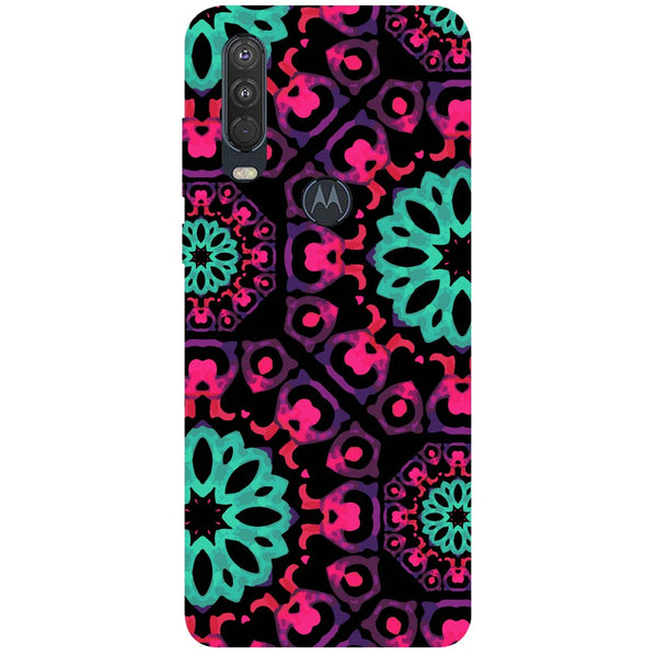 Mandala Print Motorola One Action Back Cover