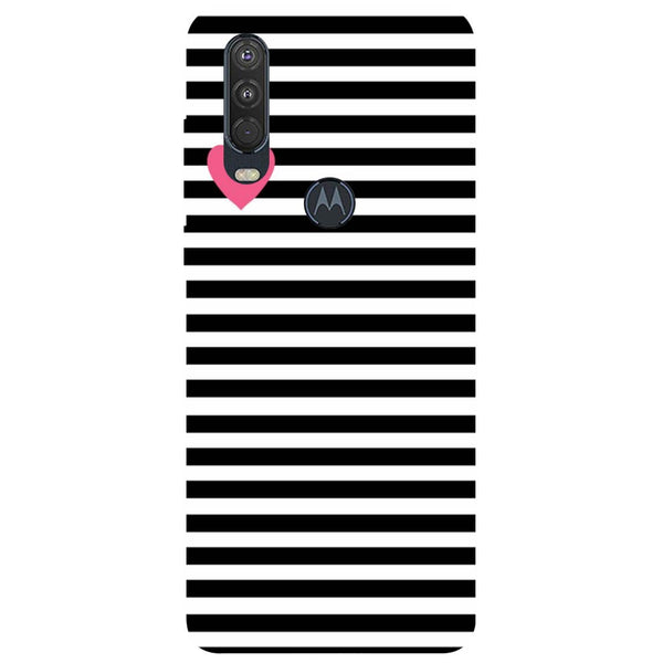 Stripes Motorola One Action Back Cover