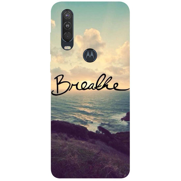 Breathe Motorola One Action Back Cover