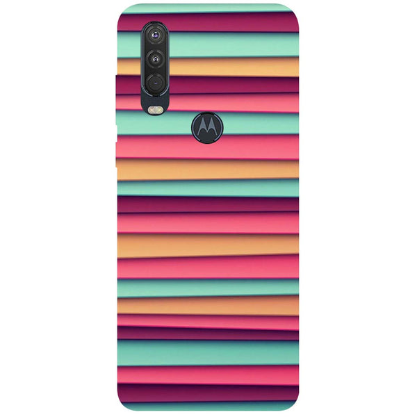 Colourful Stripes Motorola One Action Back Cover