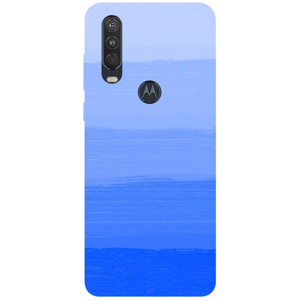 Blue Motorola One Action Back Cover