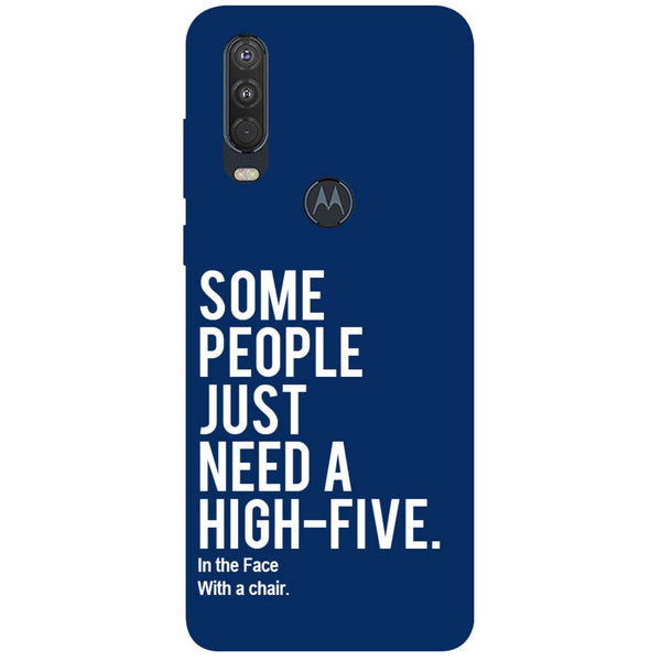 High Five Motorola One Action Back Cover