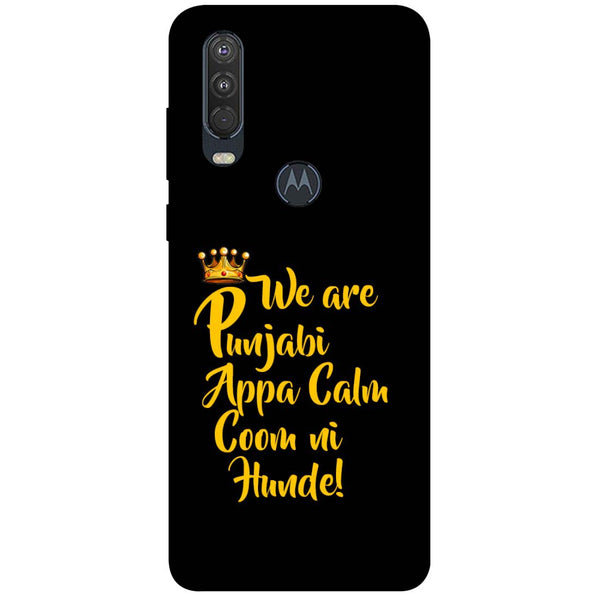 Punjabi Motorola One Action Back Cover