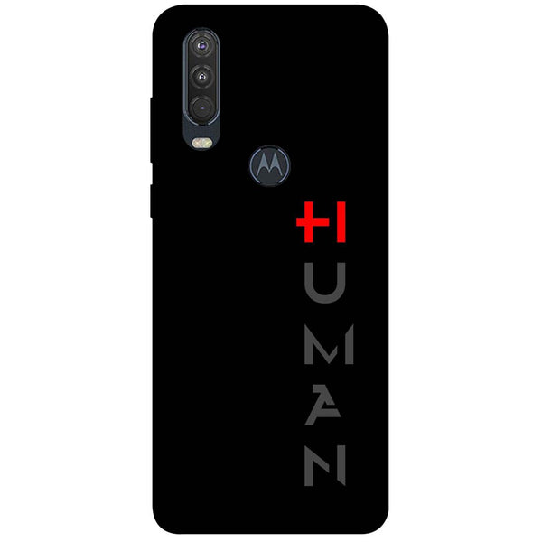 Human Motorola One Action Back Cover