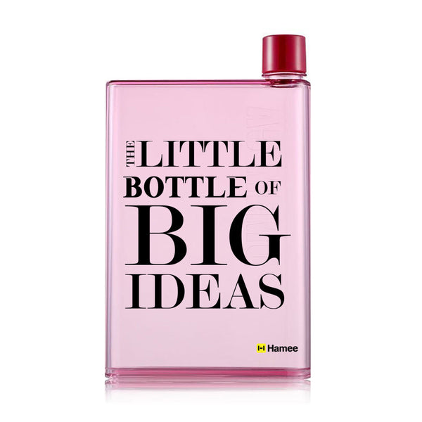Big Ideas - Pink Water Bottle (420 ml)-Hamee India