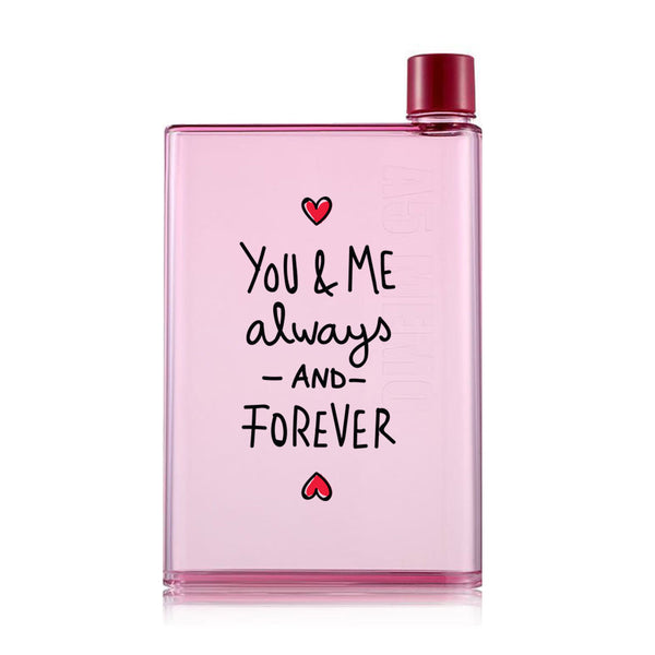 You and Me Forever Together - Pink Water Bottle (420 ml)-Hamee India