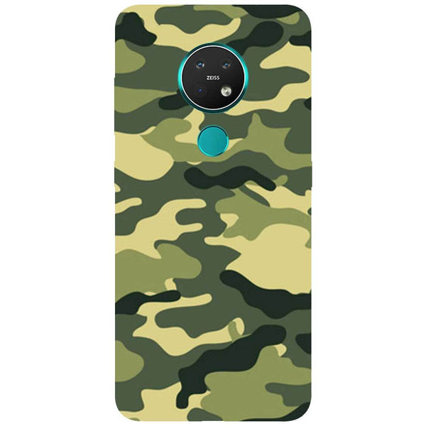 Green Camouflage Nokia 7.2 Back Cover