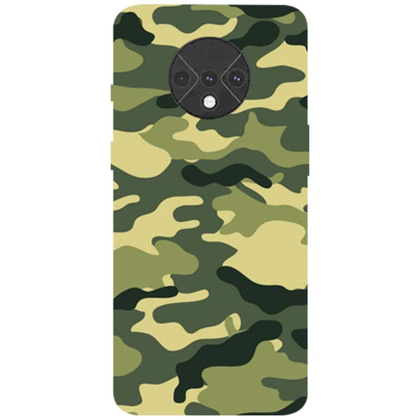 Green Camouflage OnePlus 7T Back Cover