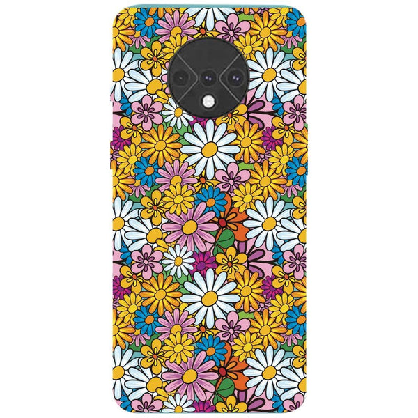 Colourful Flowers OnePlus 7T Back Cover