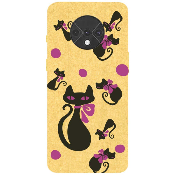 Yellow Cats OnePlus 7T Back Cover