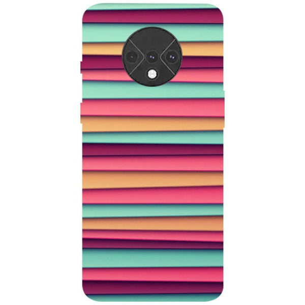 Colourful Stripes OnePlus 7T Back Cover