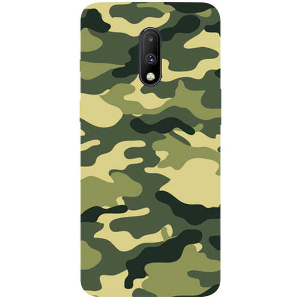 Green Camouflage OnePlus 7 Back Cover