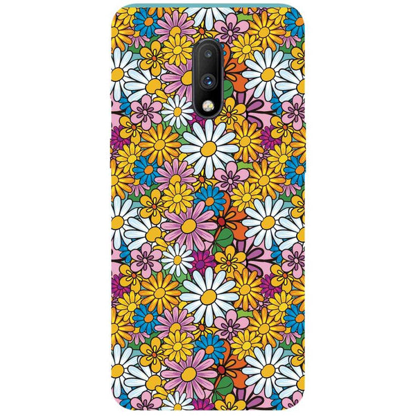 Colourful Flowers OnePlus 7 Back Cover