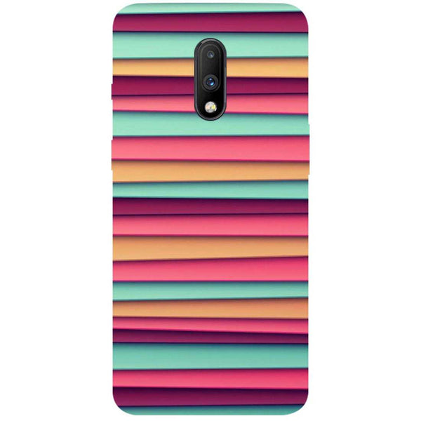 Colourful Stripes OnePlus 7 Back Cover