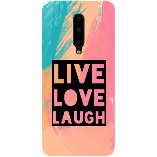 Live Love OnePlus 7 Pro Back Cover-Hamee India