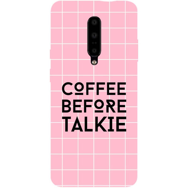 Coffee Talkie OnePlus 7 Pro Back Cover-Hamee India