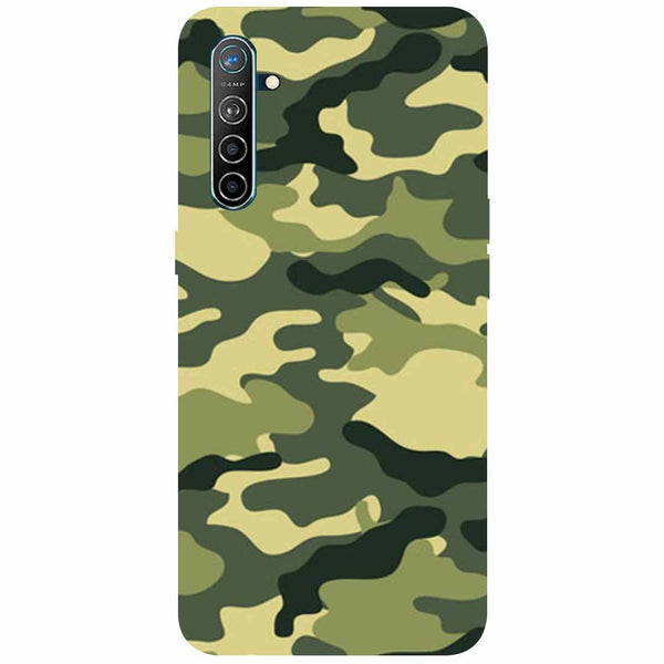 Green Camouflage Oppo K5 Back Cover
