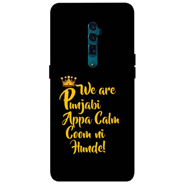 Punjabi Oppo Reno 10X Zoom Back Cover-Hamee India