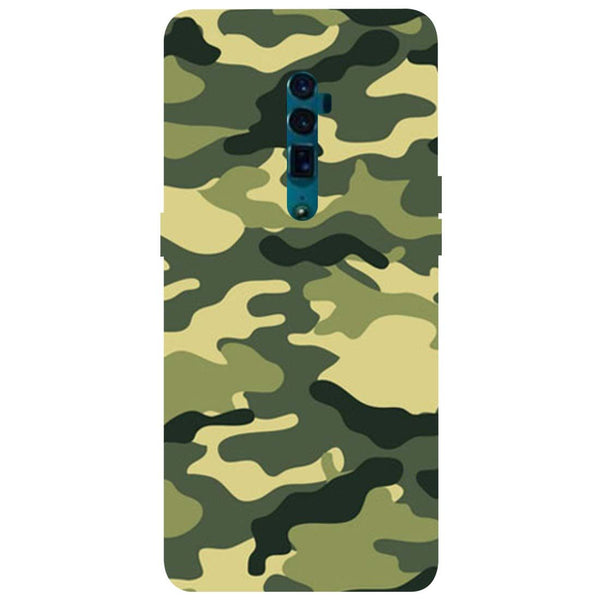 Green Camouflage Oppo Reno 10X Zoom Back Cover-Hamee India