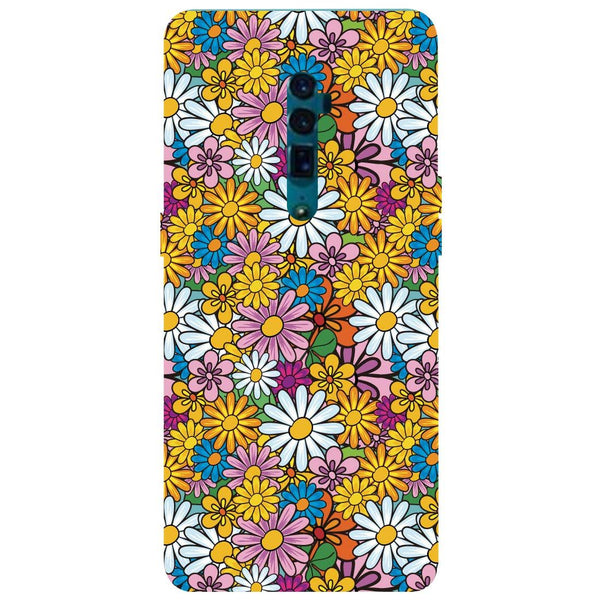 Colourful Flowers Oppo Reno 10X Zoom Back Cover-Hamee India