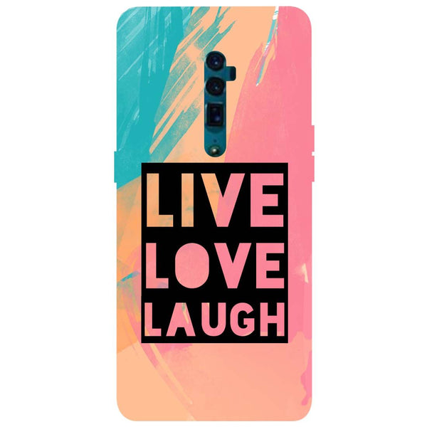 Live Love Oppo Reno 10X Zoom Back Cover-Hamee India