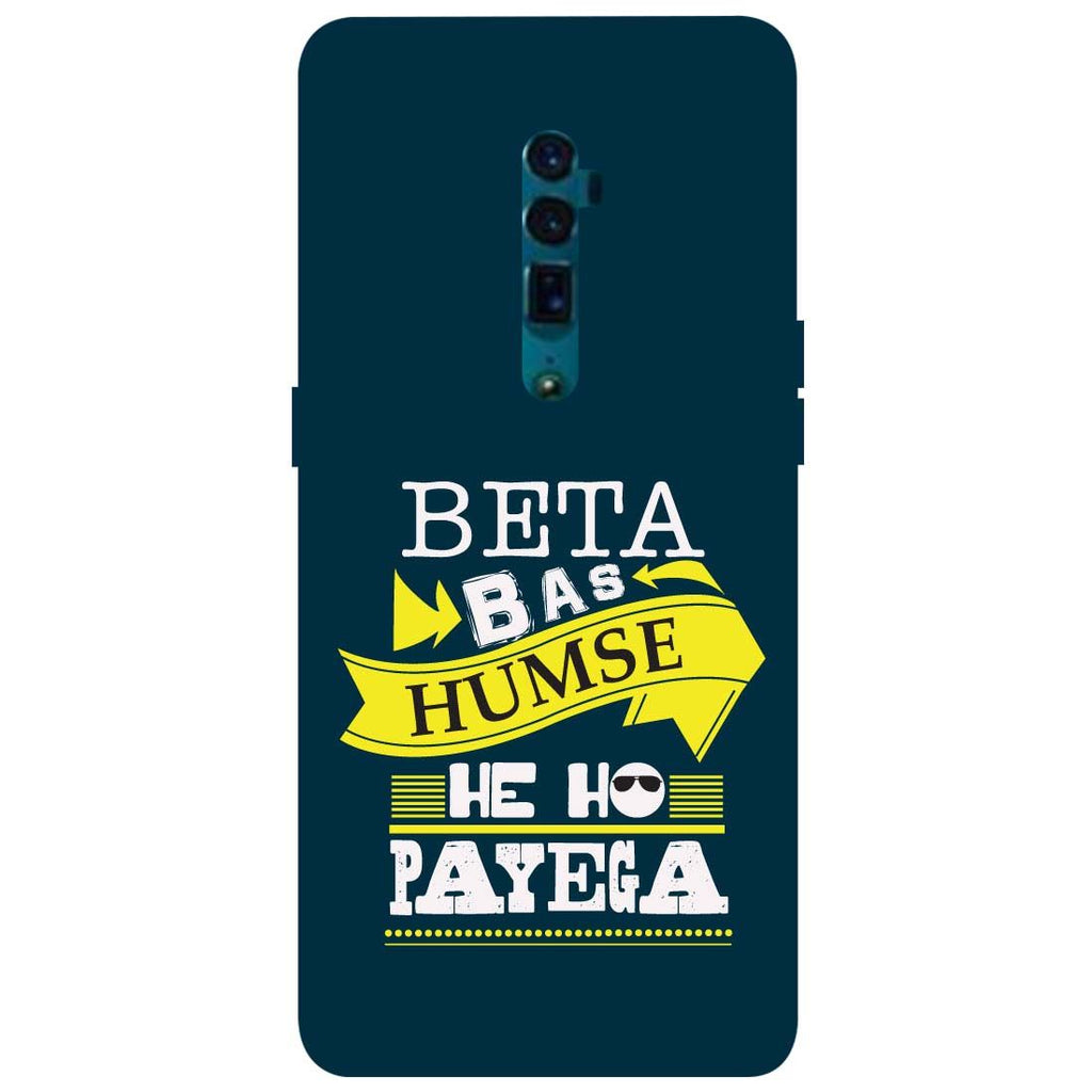 Beta Oppo Reno 10X Zoom Back Cover-Hamee India