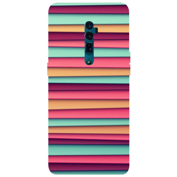Colourful Stripes Oppo Reno 10X Zoom Back Cover-Hamee India