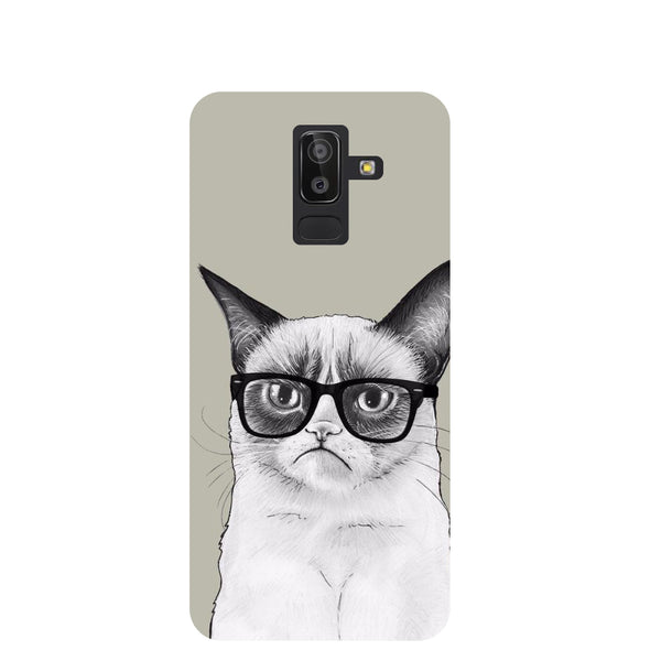 Moody Cat Samsung Galaxy J8 Back Cover-Hamee India