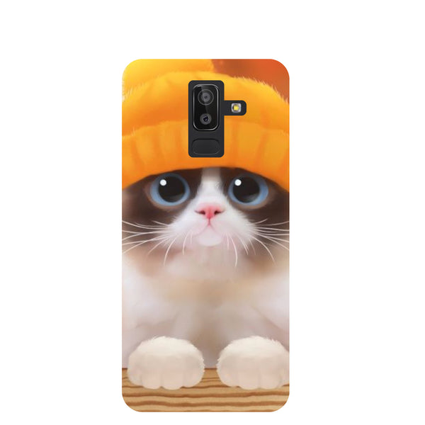 Chill Cat Samsung Galaxy J8 Back Cover-Hamee India