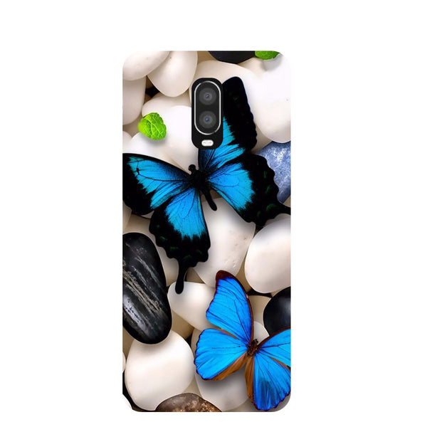 Blue Butterflies OnePlus 6T Back Cover-Hamee India
