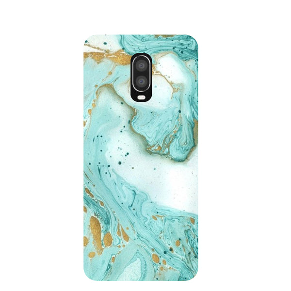 Green Marble OnePlus 6T Back Cover-Hamee India