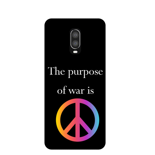 Peace OnePlus 6T Back Cover-Hamee India