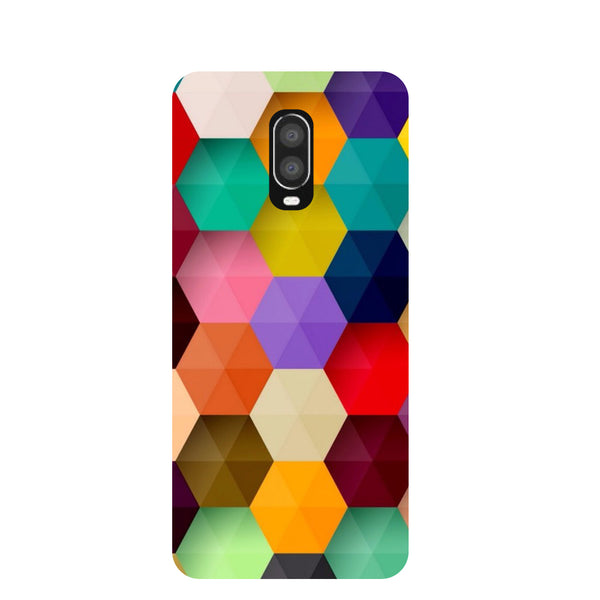 Mini Hexagons OnePlus 6T Back Cover-Hamee India