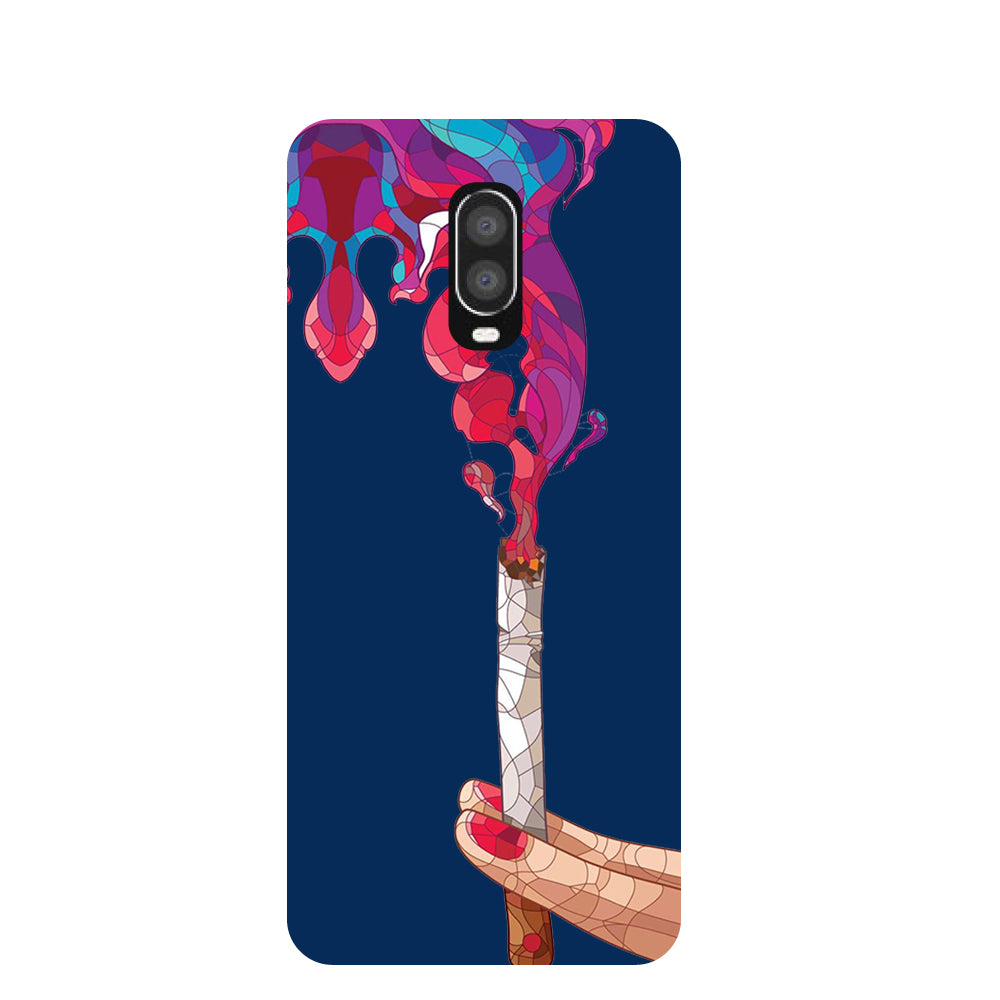 Smoke OnePlus 6T Back Cover-Hamee India