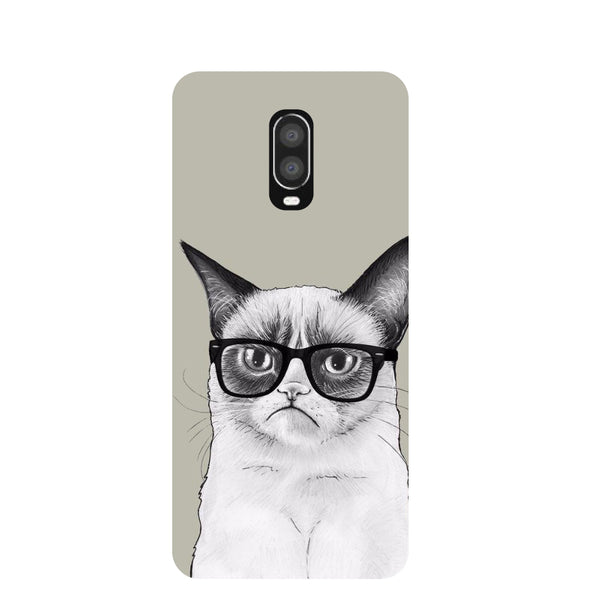 Moody Cat OnePlus 6T Back Cover-Hamee India