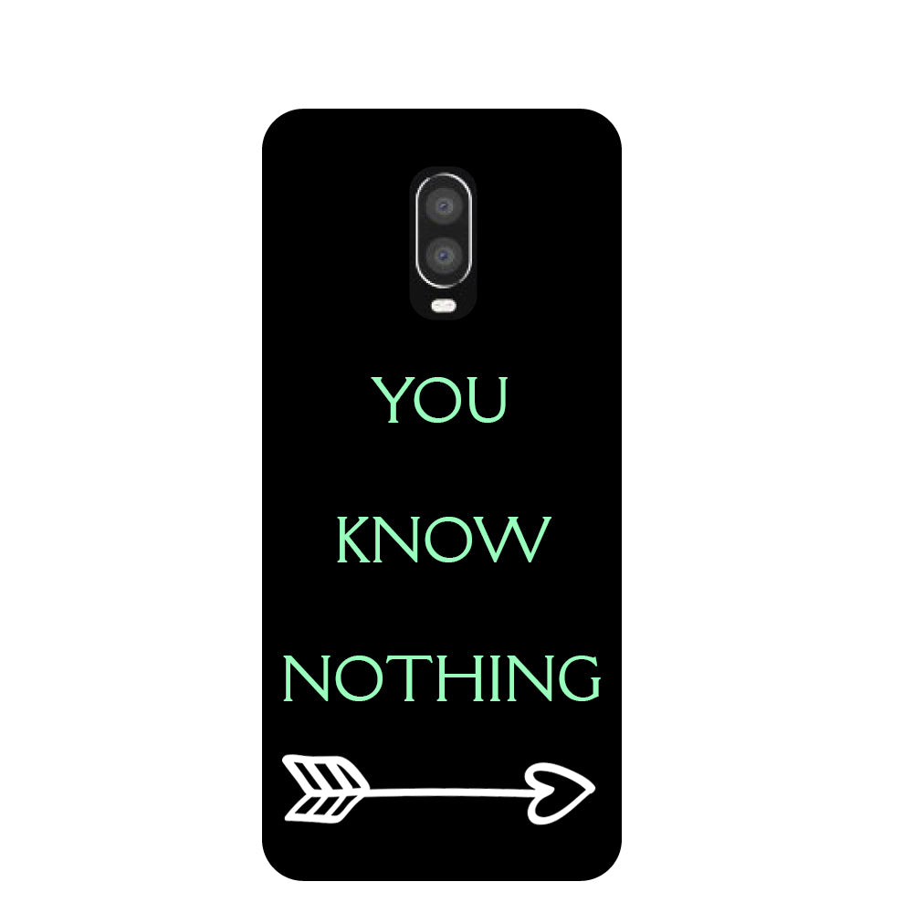 You Know OnePlus 6T Back Cover-Hamee India