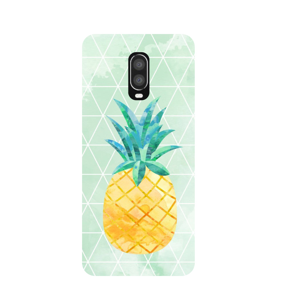 Pineapple Paint OnePlus 6T Back Cover-Hamee India
