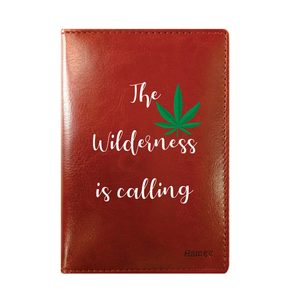 Wilderness is Calling Brown PU Leather Passport Wallet / Holder-Hamee India