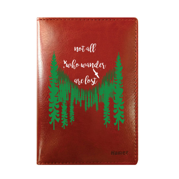 Wander Brown PU Leather Passport Wallet / Holder-Hamee India
