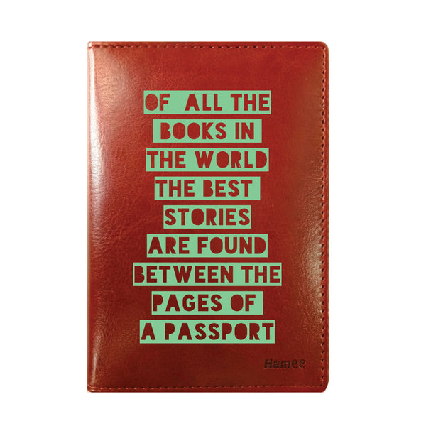 Best Stories Brown PU Leather Passport Wallet / Holder-Hamee India