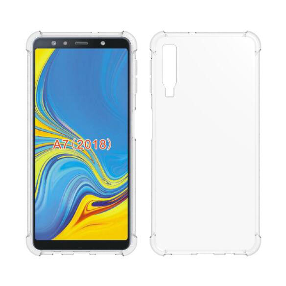 Anti Shock TPU Transparent Case - Samsung Galaxy A7 (2018)-Hamee India