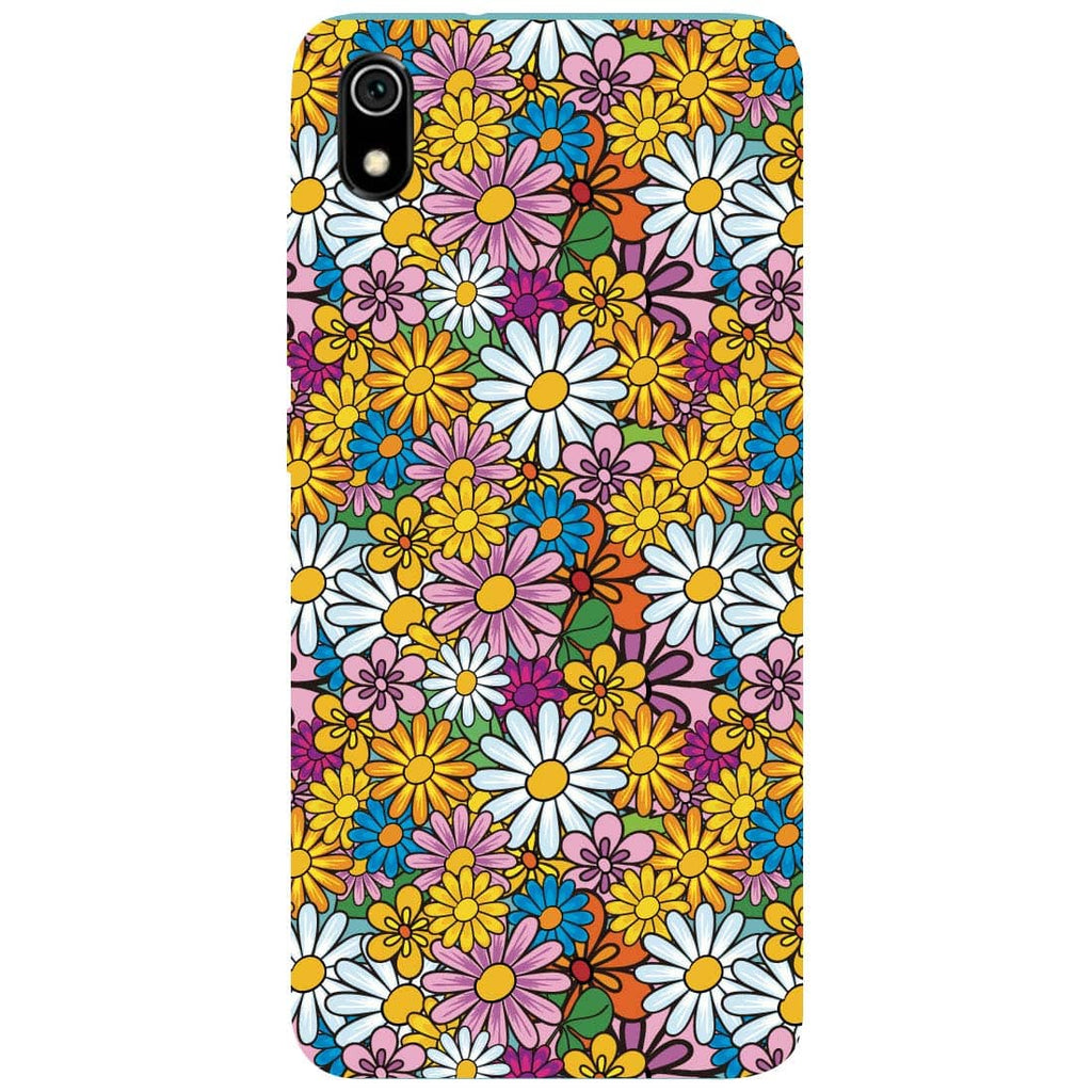 Colourful Flowers Redmi 7A Back Cover
