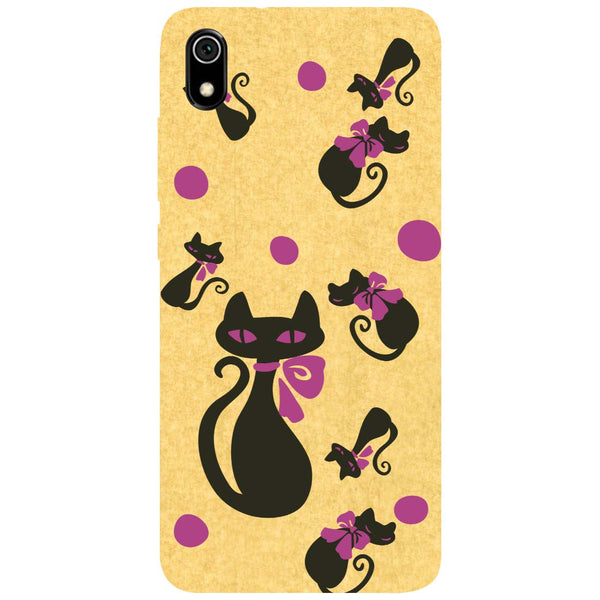 Yellow Cats Redmi 7A Back Cover