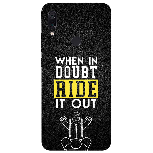 Doubt Ride Redmi Note 7 Back Cover-Hamee India